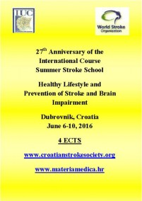 27th SUMMER STROKE SCHOOL HEALTHY LIFESTYLE AND PREVENTION OF STROKE  AND BRAIN IMPAIRMENT
